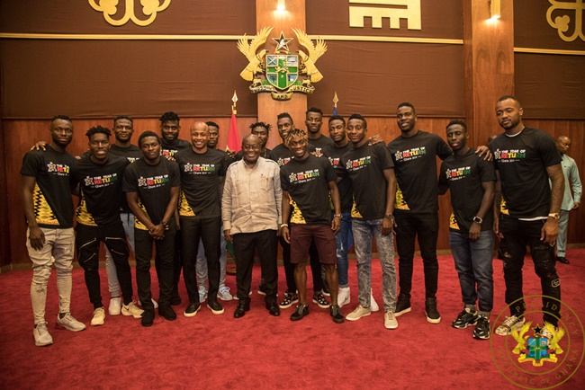 """""""Thirty Million Ghanaians Are Solidly Behind You"""" – President Akufo-Addo To Black Stars"""
