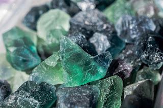 Fluoryt w krysztalach