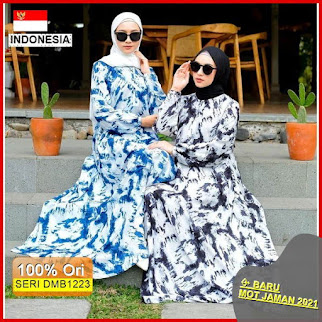 DMB1223 DRESS WANITA 1KG MUAT 4PCS AWAN TIE DYE MAXY DRESS FASHION HIJAB WANITA MUSLIMAH HITS SELEBGRAM BARU 2021