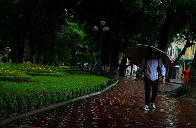 rainy season in Hanoi Vietnam