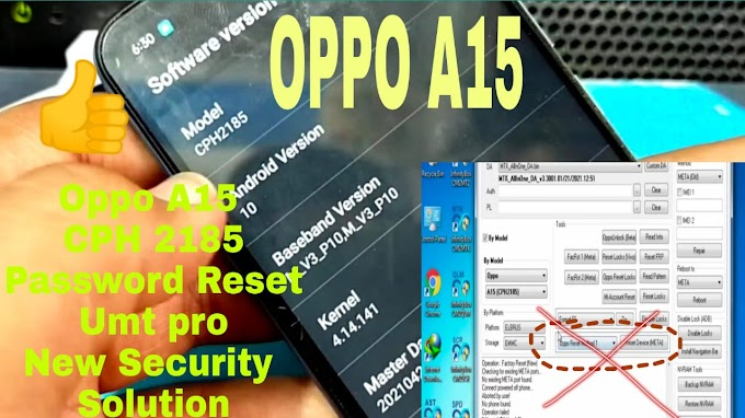 oppo A15 (CPH2185) Password Factory Reset Umt Pro