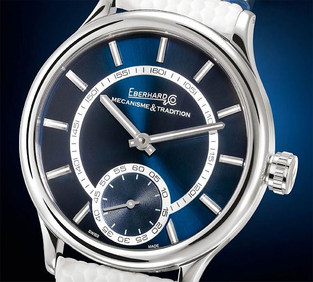 Eberhard Traversetolo Blue Dial