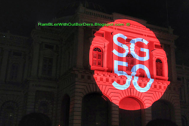 SG50 video projection, Singapore Night festival, Singapore National Museum, Singapore