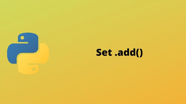 HackerRank Set .add() solution in python