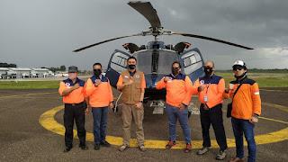 BNPB Pusat Beri 1 Unit Helikopter Patroli Karhutla Kepada BPBD Provinsi Jambi