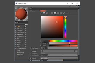 Memilih warna baru untuk bahan lebih banyak