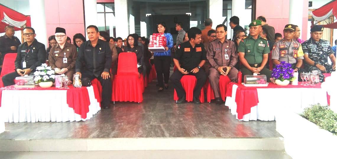 Pemkab bersama TNI dan POLRI Sitaro Gelar Upacara Hari Lahir Pancasila