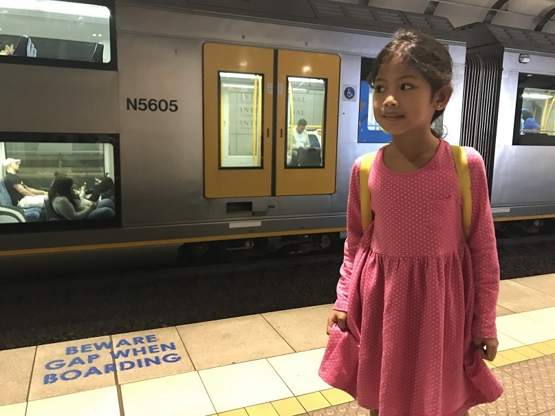 kid will be riding in sydney subway