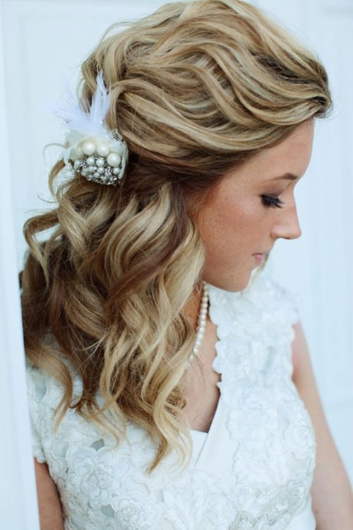 New Half Up Half Down Wedding Hairstyles