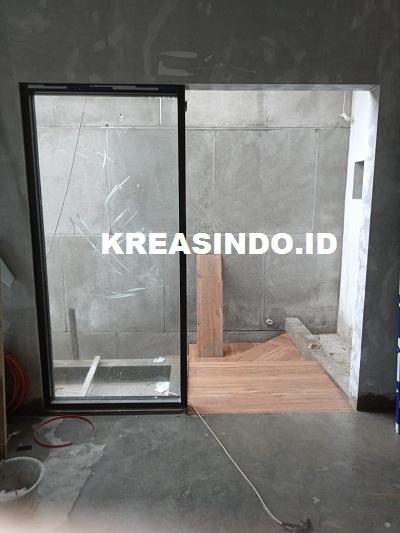 Repeat Order ke 3 Vindo Design pemeangan Pintu Garasi dan Kusen Aluminium di Alam Sutera Tangerang