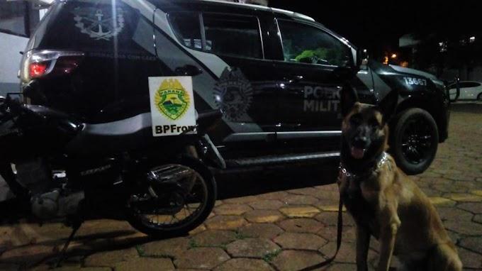 BPFron recupera motocicleta furtada durante patrulhamento em Cascavel