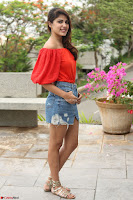 Rhea Chakraborty in Red Crop Top and Denim Shorts Spicy Pics ~  Exclusive 139.JPG