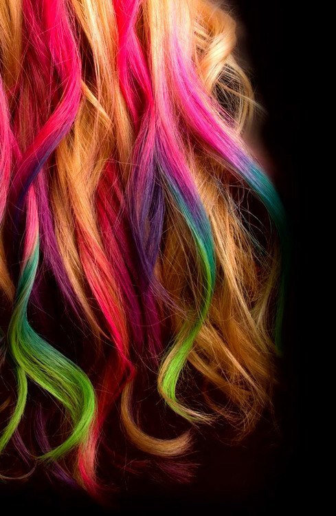 .: Hair chalk temp hair colour 12 colour in the box goes ...