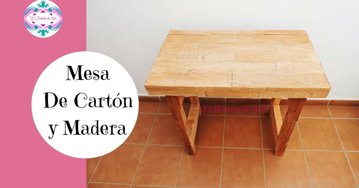 El rinc n de atir c mo hacer una mesa con cajas de cart n for Construir mesa de madera