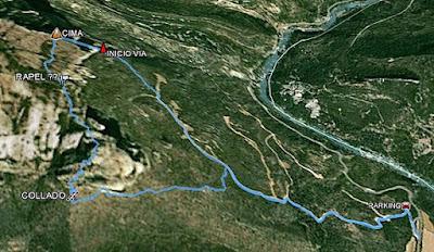 Peña Rueba, descenso por el norte o este