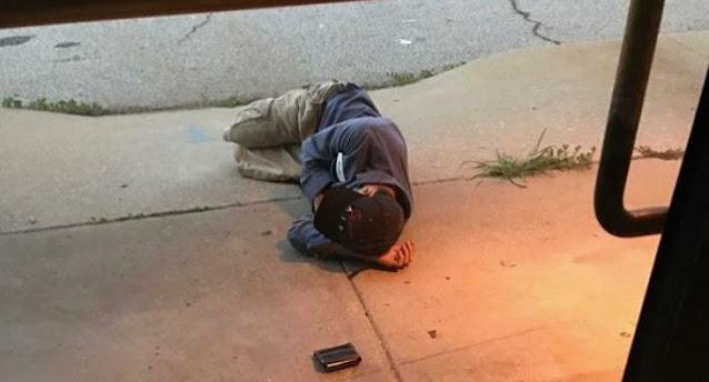 Бездомный просто лег возле приюта… в надежде найти любимого питомца!