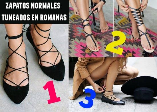 zapatos, romanas, tutoriales, tunear, refashion, moda, calzado