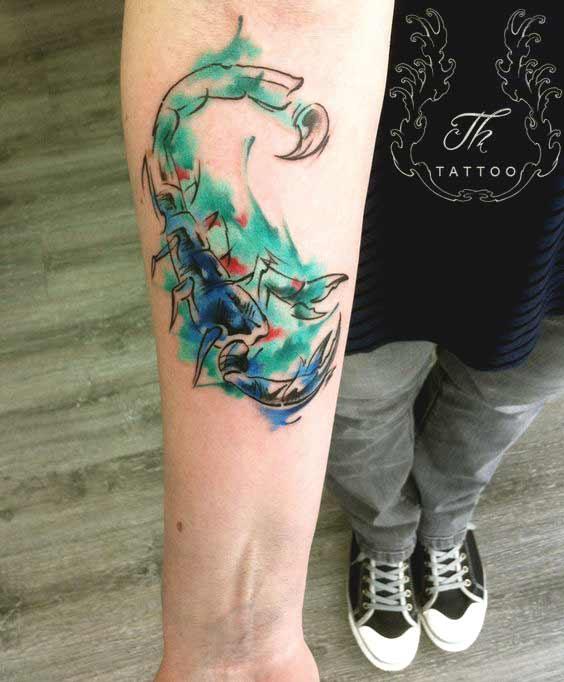 Scorpio tattoos for forearms