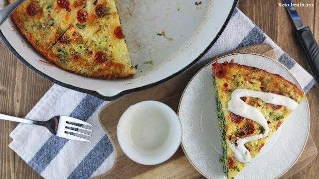 Keto breakfast recipe - Keto pizza Frittata