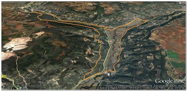 Mapa de la ruta: Villar del Olmo, Orusco, Ambite, Villar del Olmo
