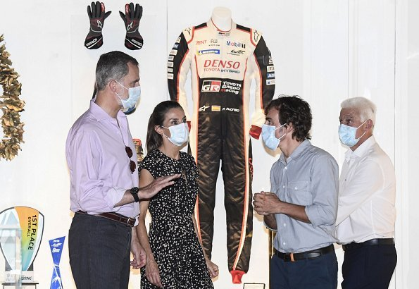 Queen Letizia and King Felipe of Spain visited the Fernando Alonso Museum and Circuit in Llanera