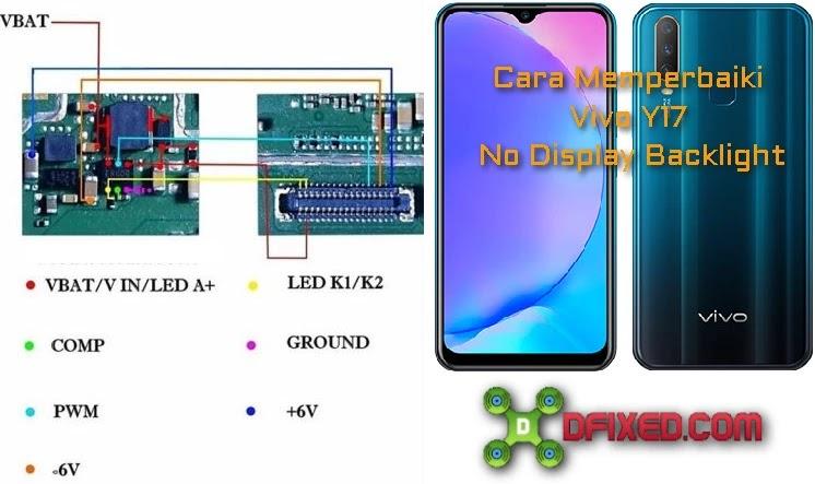 Memperbaiki Kerusakan Vivo Y17 No display Backlight
