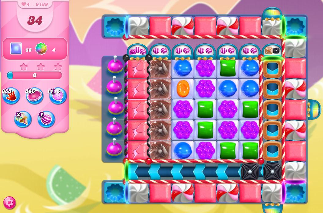 Candy Crush Saga level 9189