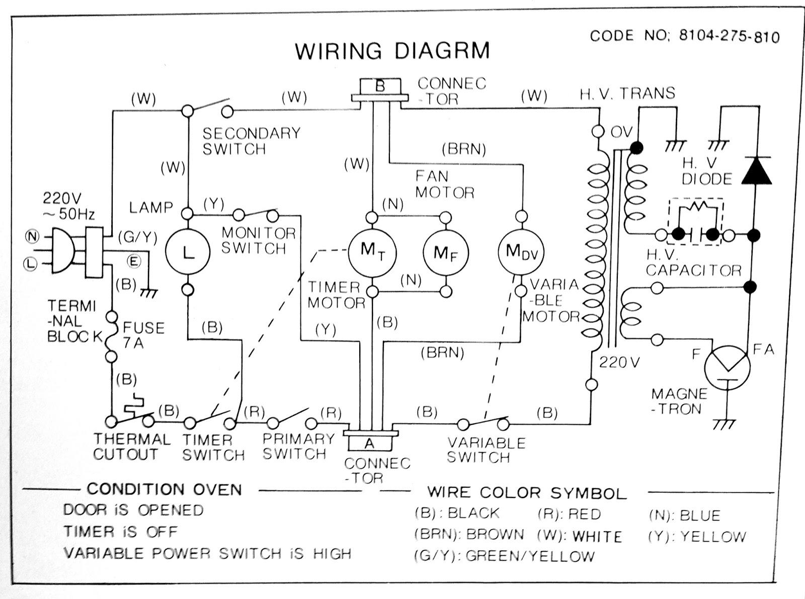 Microwave Mechanical Timer Wiring Diagram | Online Wiring