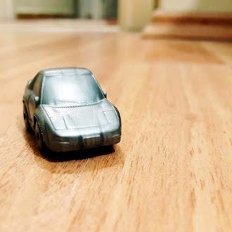 Gray Toy Car, Macro, Mini