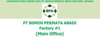 Loker IT Inventory PT. Bomin Permata Abadi Jepara