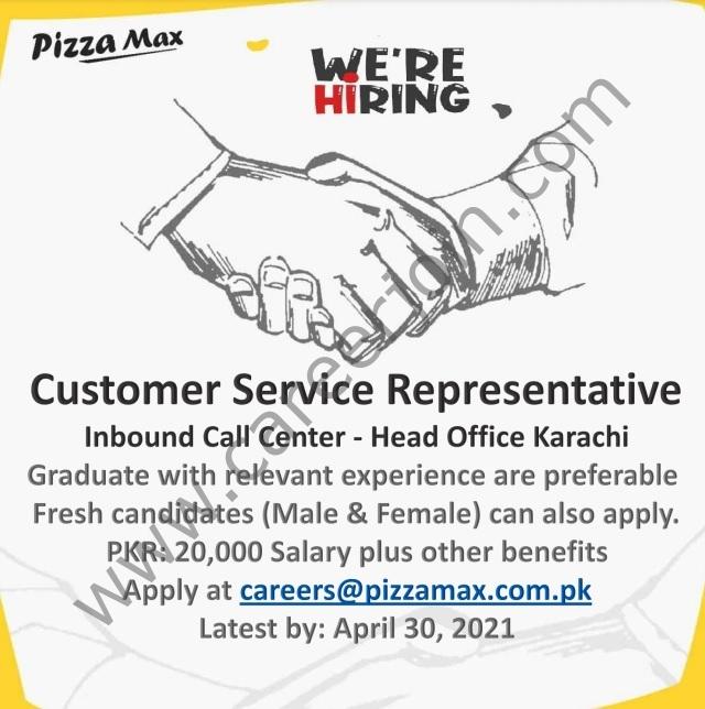 Pizza Max Pakistan Jobs 2021 in Pakistan