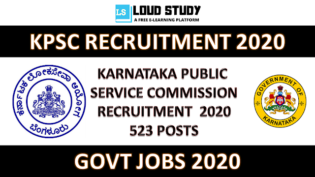 KPSC Recruitment 2020 - 523 Posts - Apply Online Now