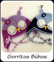 Gorritos búhos a crochet