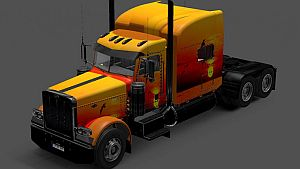 Sunset paint for Peterbilt 389