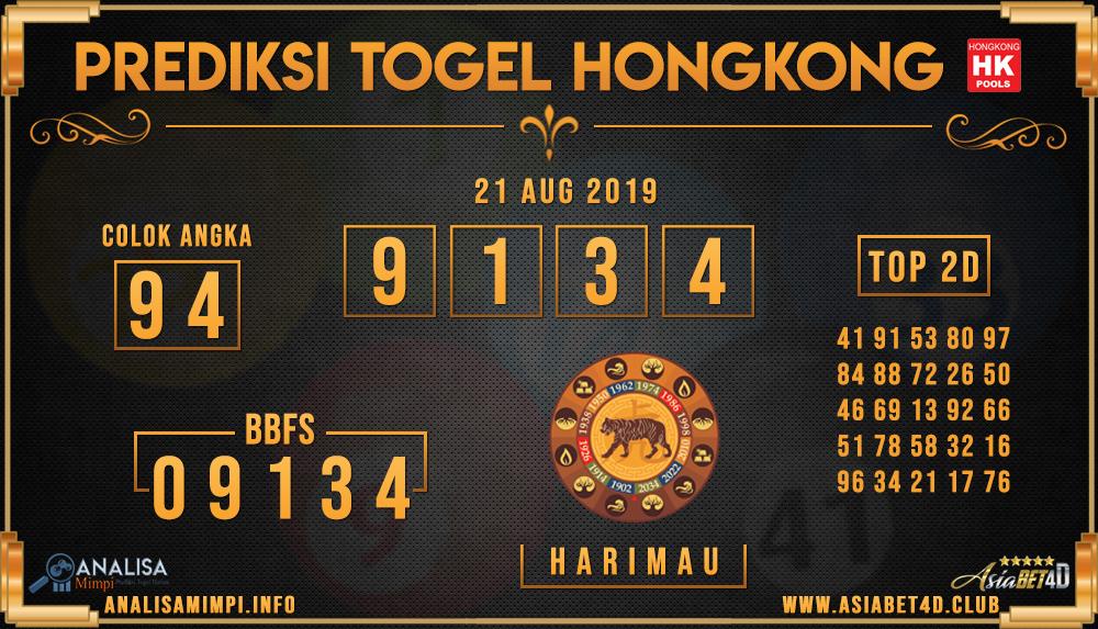 PREDIKSI TOGEL HONGKONG ASIABET4D 21 AUG 2019