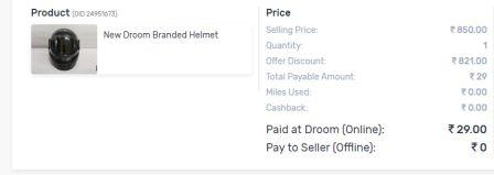 Droom-helmet-offer