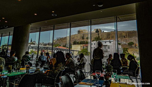 Restaurante do Museu da Acrópole, em Atenas