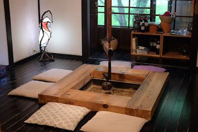 鳥取の古民家の喫茶店とギャラリー 歩とり 囲炉裏