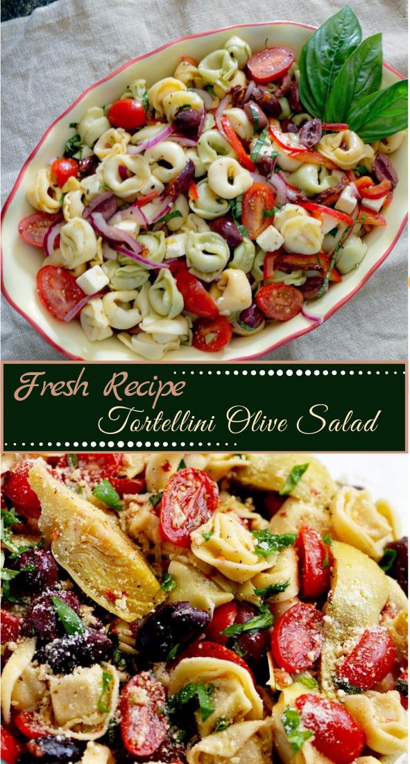 Tortellini Olive Salad #vegan #vegetarian #soup #breakfast #lunch