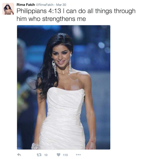 Rima Fakih, Miss USA Muslim Pertama Masuk Kristen