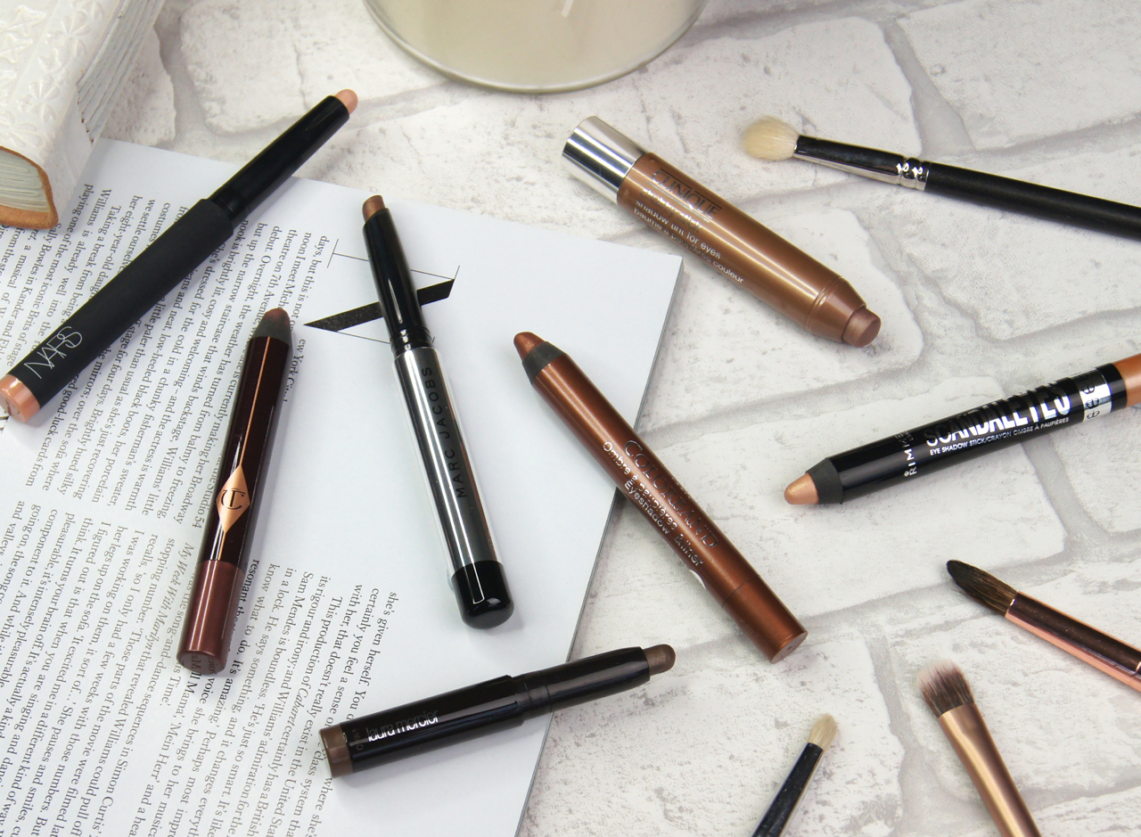 best cream eyeshadow sticks review swatches nars laura mercier charlotte tilbury clinique marc jacobs bourjois rimmel