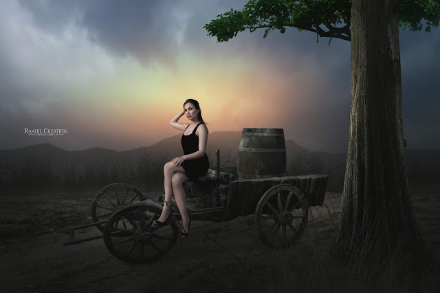 Old Cart - Dramatic Photo Manipulation Photo Effects Tutorial Editing