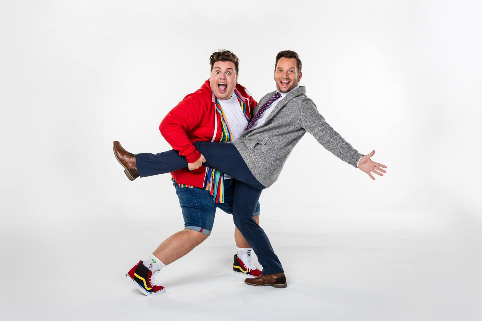 Scott Paige and Scott Garnham as Mr Poppy and Mr Maddens