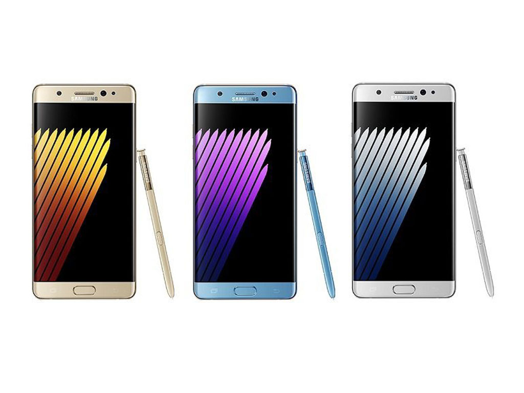Front View of Samsung Galaxy Note 7