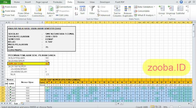 Menggunakan Data Export CSV ZipGrade untuk Analisis Ujian di Excel