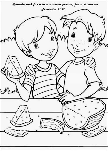 Desenhos De Amigos E Amizade Para Colorir Pintar Imprimir Dia