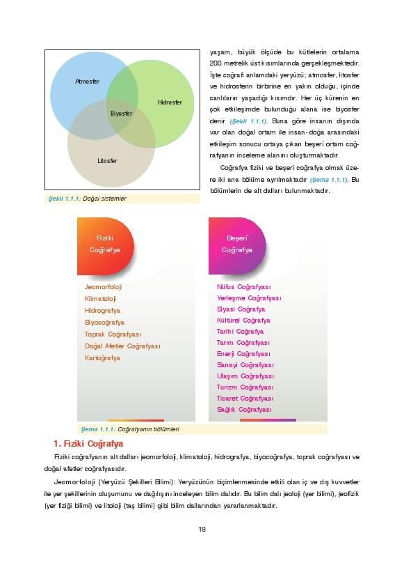 9. Sınıf Coğrafya Ders Kitabı Cevapları Fersa Yayınları Sayfa 18