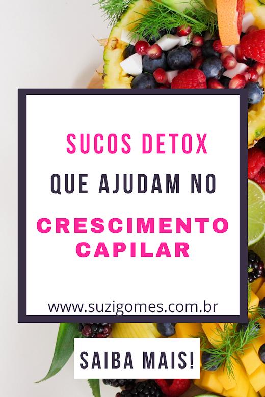 sucos detox que ajudam no crescimento capilar