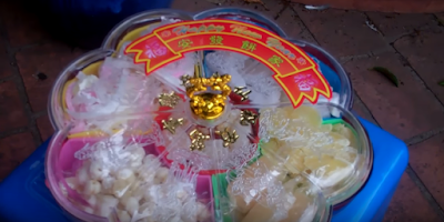 Vietnamese lunar new year traditional Mut Candied fruits