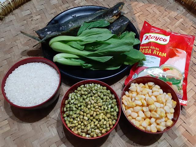Resep Nasi Kacang Hijau dengan ubi Merah